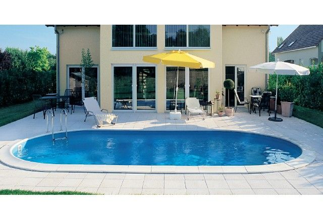 Stahl oval pool 570 x 300 x 150 cm for Stahl pool oval
